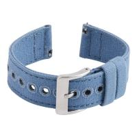 China SHX Denim Blue Canvas Watch Strap , Square End 18mm quick release watch band on sale