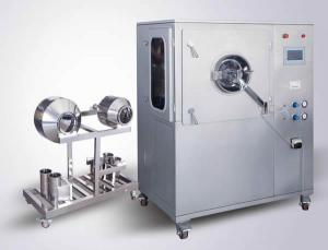 China Large Capacity Organic Powder Coating Equipment , Film / Pill Coating Machine 2500 * 1700 * 2800mm on sale