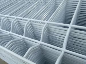 China 5x10cm Galvanized 3D Wire Mesh Fence With Steel Garden Gate Door on sale