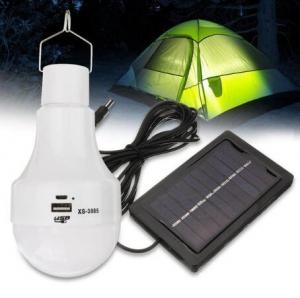 China 3W Solar Panel Power LED Bulb Light Portable Rechargeable Outdoor Camping Tent Emergency Hook Lamp on sale