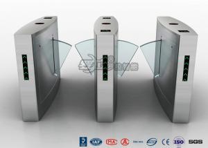 China Fingerprint Reader Turnstile Barrier Gate , Acrylic Flap Barrier Turnstile on sale