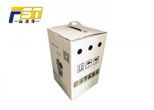 China Grey Cardboard Corrugated Shipping Boxes CMYK 4 Color Printing Collapsible on sale