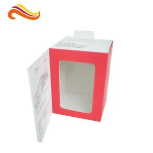 China Customized Card Paper Electronics Packaging , 350gsm Display Box With Hanger And Window on sale