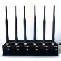China Signal jammer | 15W High Power Adjustable 6 Antenna Bluetooth GPS Mobile Phone Jammer on sale