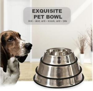 China Multifunction Hot Sale New Type Printed Lovely Stainless Steel Dog Pet Feeding Bowl on sale