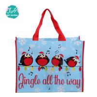 China Blue Color Cartoon Animal Prints Non Woven Grocery Bags , Non Woven Cloth Bags on sale