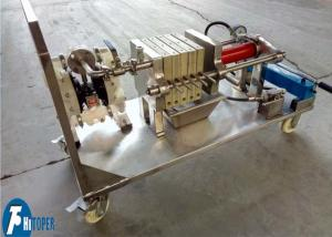 China Jack Operation Lab Scale Filter Press Equipment For Solid Liquid Separation on sale