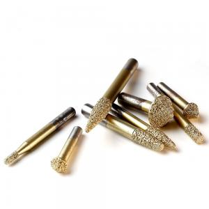 China Carving Stone CNC Diamond Engraving Tool Golden Color High Precision Less Wasteness on sale