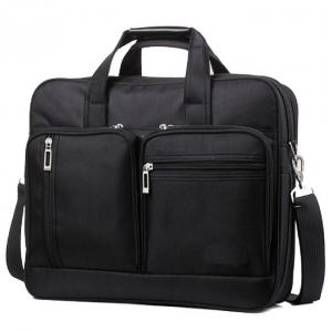 China Black Color Men Laptop Messenger Bags Oxford Material Custom Color With Logo on sale