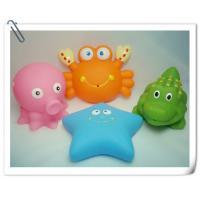 China Custom Soft Plastic Rubber Bath Toys Sea Animal Shaped Phthalate Free PVC on sale