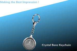 China bens crystal keychain/bens keyring/bens key ring/CRYSTAL LED key CHAIN on sale