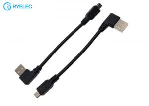 China Custom USB A Male Left Angle 90 Degree To Straight Mini B Cable Assembly on sale