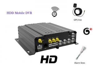 China Hard Disk 720P Car DVR 4G Front And Rear Camera 4 Channel Car Dvr Recorder on sale
