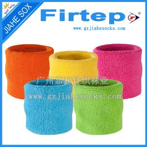 China Custom Tennis Sweat Wristbands,Supply Cotton Terry Sweat Armband kids sweatband on sale