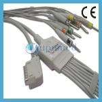 Kenz PC-109 10 Lead EKG Cable with leadwires;EKG Cable with leadwires