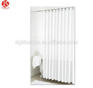 China New product Eco-friendly Solid color Plastic shower curtain liner/PEVA bath curtain on sale