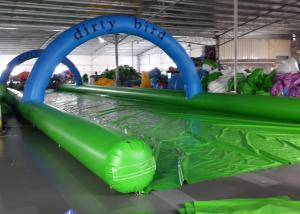 China Funny Inflatable Slip N Slide Water Slides Street 1200m Long Slip And Slide on sale