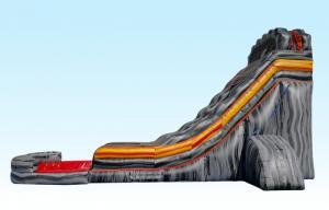 China Glissière gonflable géante grise faite sur commande, glissières d'eau d'explosion pour l'adulte on sale