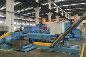 China Transparent Rigid Pvc Pelletizing Machine 110l Mixer With Hot Cutting System on sale