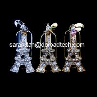 Customized Jewelry Tower Shaped USB Flash Disks, 100% Original New Memory Chip