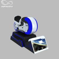 China 1 Person Online Race 9D VR Motorcycle Car Driving Simulator Black Or White Color on sale
