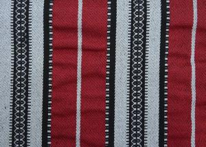 China Home Textile Sadu Black And White Striped Upholstery Fabric 270GSM on sale