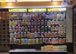 Wall Side Display Shelving With Square Light Box For Convenience Store 2.2M High