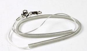 China Transparent gray hot selling plastic fishing rod lanyard anti-drop coiled tether OEM made on sale