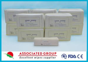 China Soft Gentle Non Woven Gauze Swabs Sterile 10 x 10 cm For Hospital on sale