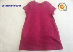 China Crew Neck Baby T Shirt Dress Short Sleeve 100% Cotton Slub Jersey SGS Certified on sale
