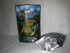 China Coffee Ziplock Foil Packaging Bags Printing Stand Up Glossy Finish on sale