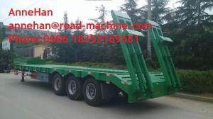 China Q345 Carbo Steel Low Bed 40 Feet Gooseneck Trailers for heavy duty machinery  Transportation 3Axles on sale