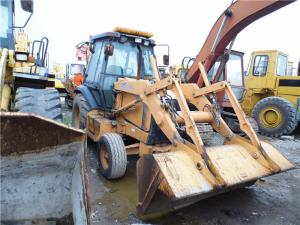 China A/C Cabin Used Backhoe Loader , CASE 580L Backhoe Loader Direct Fuel Injection on sale