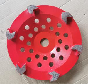 China Arrow segment Diamond Cup Diamond Grinding Wheels Grinding Concrete With Customized Color on sale