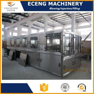 China 5.6KW 3 Gallon Fully Automatic Bottle Filling Machines With Three Filling Heads on sale