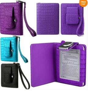 China Mini Colorful PU Kobo Ereader Leather Case Folio With LED Light on sale