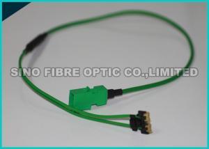 China 3.0mm Bare Ribbon Fiber Optic Assembly 48F Multimode OM3 Fiber Optic Cable MTP - MXC Plug on sale