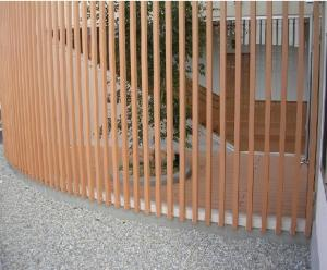 China Brown / Cedar Thin Coffee WPC Fence Panels For SPA Surrounds Decoration on sale