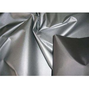 Silver / Purple Polyester Taffeta Fabric 190T Yarn Count Color Customized Comfortable