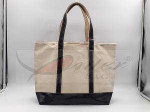 China Beige Canvas Washable Tote Bag , Personalized Canvas Tote Bags 32*29.5*13.5 Cm on sale