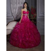 New Stock Hot Pink Prom Ball Bridal Gown Quinceanera Dresses