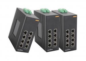 China 8 * 1000 Base TX Managed gigabit ethernet switch Din rail industrial media convert on sale