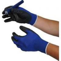 Brushed acrylic knit shell Blue protective industrial safety gloves for Garbage collection