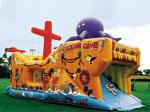 Inflatable Ship Playground In Ship Design With Animal Cartoon Pictures