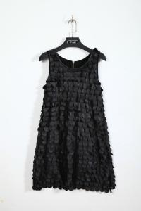 China Unique Top Fashion Womens Club Dresses Party Frocks Sleeveless PU Leather Scales on sale