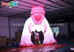 China 4m Pink Oxford Cloth Inflatable Dinosaur Cartoon Characters for Festive Decoration on sale