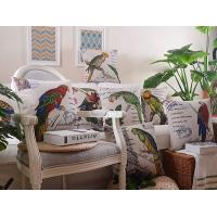 Retro vintage style custom animal print cushion,parrot myna bird print with letter cushion