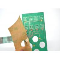 China Push Button Single Membrane Switch LED , Flat PCB Membrane Switch Panel on sale