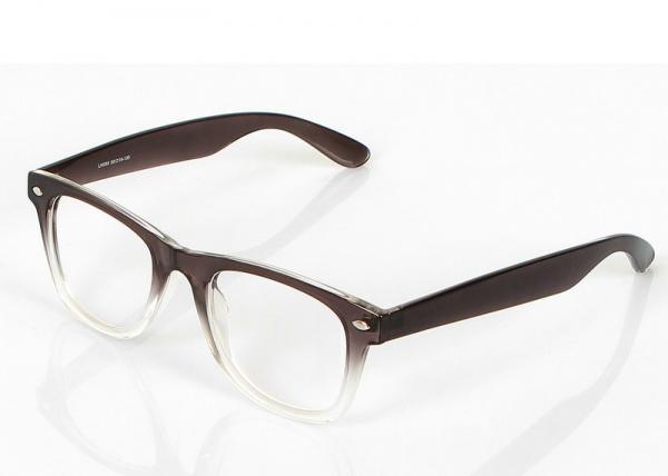Round Retro Eyeglass Frames , Dark Coffee And Clear Plastic Eyeglass ...
