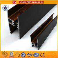 Customized Hollow Wood Finish Aluminum Window Frame Extrusions